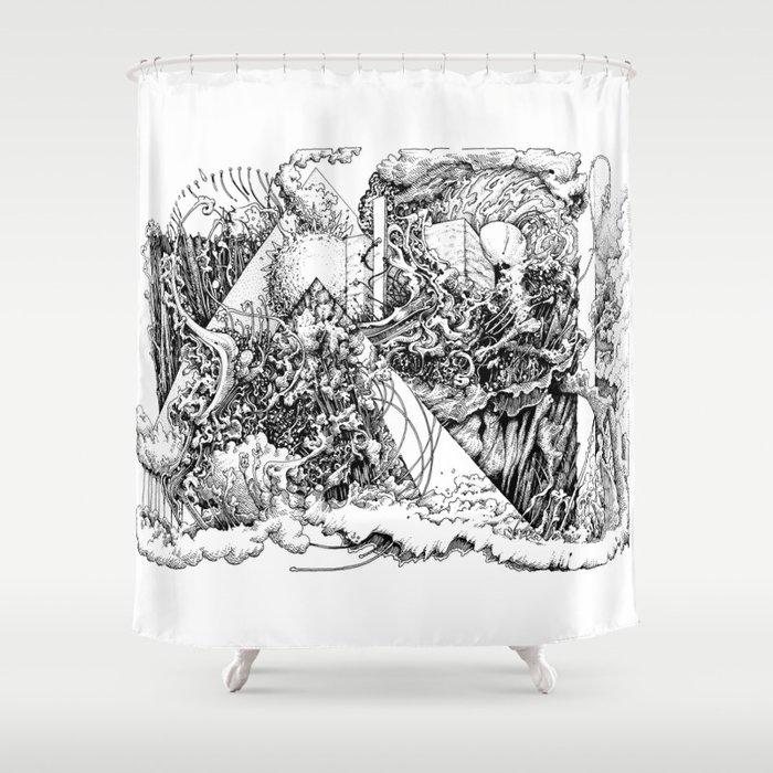 symptomatic recline Shower Curtain