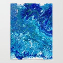 Dark Ocean Blue Poster