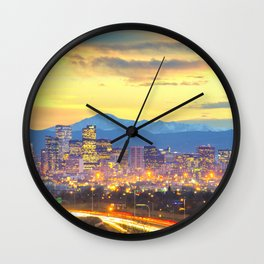 The Mile High City Wall Clock
