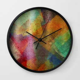 Colorful paint texture Wall Clock
