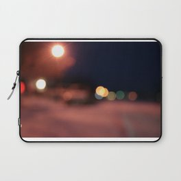 Colors Sing to Me on Snowy Nights Laptop Sleeve