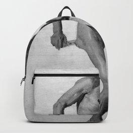 Constantin Hansen - Siddende nøgen mandlig model Backpack