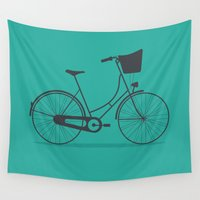 bicycle Wall Tapestries featuring Bicycle by arzu sendag
