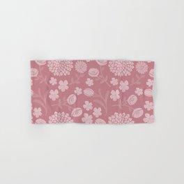 Modern botanical pink coral white floral illustration Hand & Bath Towel