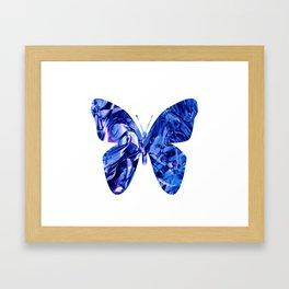 Fluid Butterfly (Blue Version) Framed Art Print