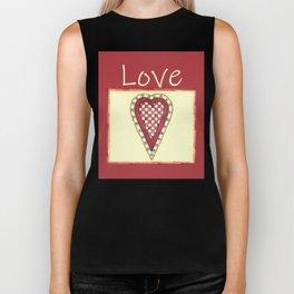 My Checkered Heart of Love Biker Tank