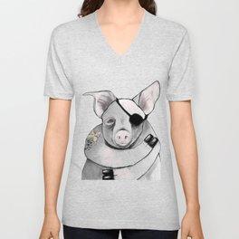 Living Pig Unisex V-Neck