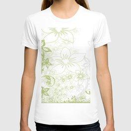 Flowers Curlicue Kringel T-shirt