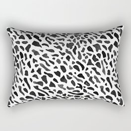 Fan Coral Pattern - Black Rectangular Pillow