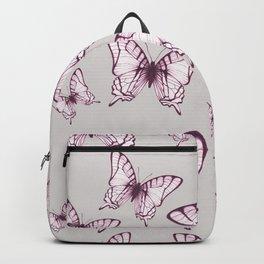 butterfly pattern in purple Backpack