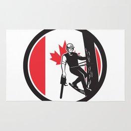Canadian Tree Surgeon Canada Flag Icon Rug