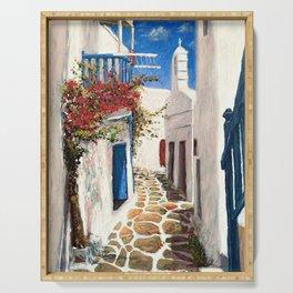 Mykonos Town, Greece Serving Tray