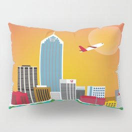 Perth, Australia - Skyline Illustration by Loose Petals Pillow Sham