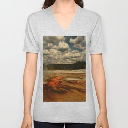 Hot And Colorful Thermal Area Unisex V-Neck