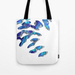 Blue And White Modern Art - Falling 2 - Sharon Cummings Tote Bag