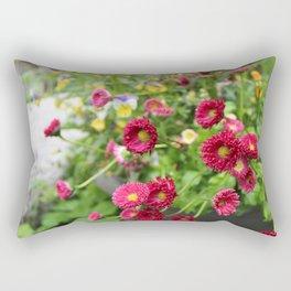 Maroon flowers Rectangular Pillow
