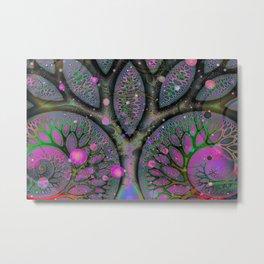 Tree of Life Fractal Metal Print