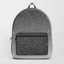 Elegant chic black silver gradient glitter Backpack