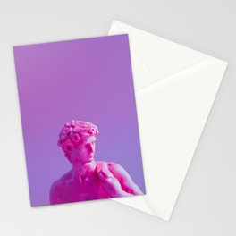 Purple Sculpture Stationery Cards