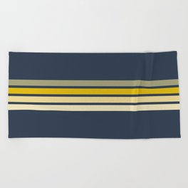 Racing Retro Stripes Beach Towel