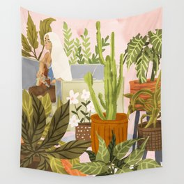 Playing For My Plants Wall Tapestry
