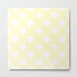 Polka Dots (White/Cream) Metal Print