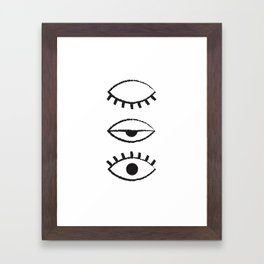 off and on Framed Art Print