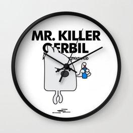 MR KILLER GERBIL Wall Clock
