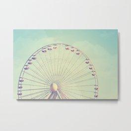 Ferris Wheel - Round and Round Metal Print