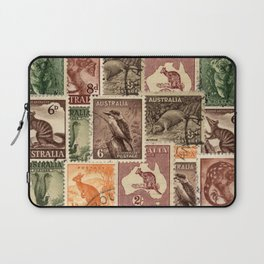 Vintage Australian Postage Stamps Collection Laptop Sleeve