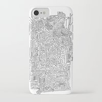 blueprint iPhone & iPod Cases featuring Home Blueprint by Max Bayarsky