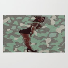 Sexy Military Gal Rug