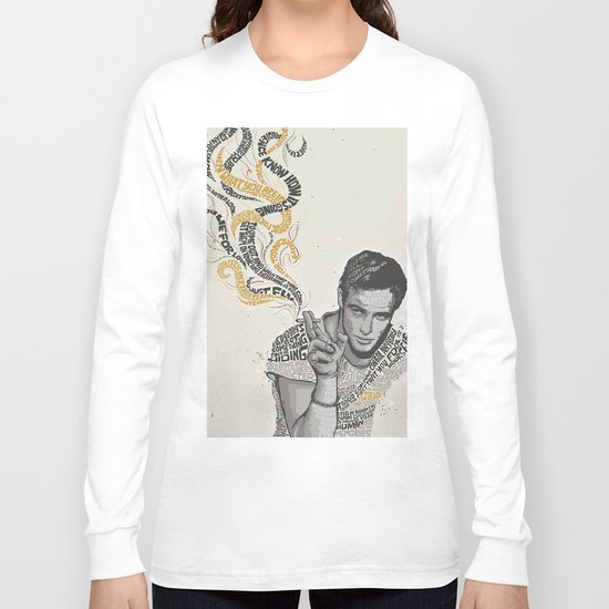 MARLON BRANDO - Quotes Art Long Sleeve T-shirt