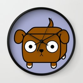 Pitbull Loaf - Red Brown Pit Bull with Floppy Ears Wall Clock