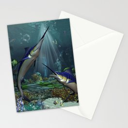 Wonderful marlin Stationery Cards
