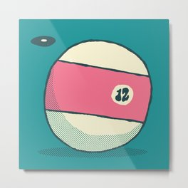 TV 12 BALL Metal Print