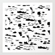 Black and white mess Art Print