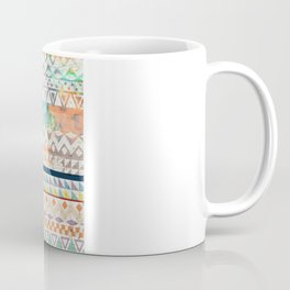Blue Orange Andes Abstract Aztec Pattern Fashion watercolors Coffee Mug