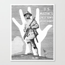US Marines -- Uncle Sam's Right Hand Canvas Print
