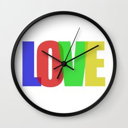Love (Color) Wall Clock