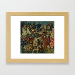 The Unicorn is Killed and Brought to the Castle (from the Unicorn Tapestries) 1495–1505 Framed Art Print