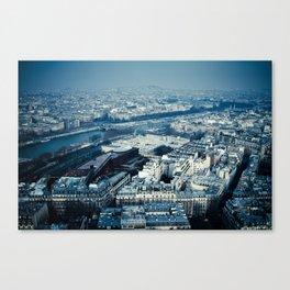 Paris on high Canvas Print
