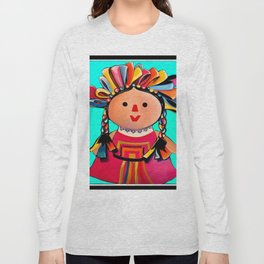 Mexican Maria Doll (turquoise) Long Sleeve T-shirt