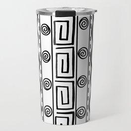Tribal Doodle Earth Rocks Mountians Travel Mug