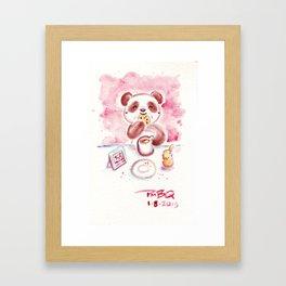 Cookies and Tea Panda Framed Art Print