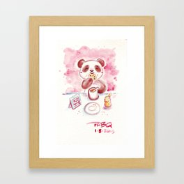 Cookies and Tea Panda Framed Art Print