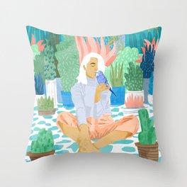 Early Lovebird Throw Pillow