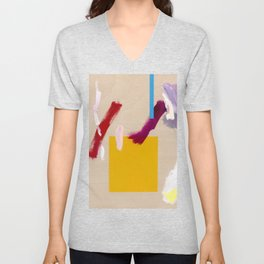 Untitled (Abstract Composition 3) Unisex V-Neck