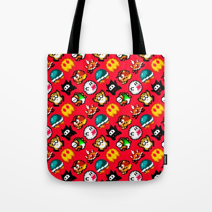 Super Mario World | enemies pattern | red fire Tote Bag