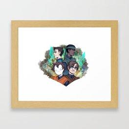 Late Night Crew Framed Art Print